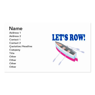 Lets Row Business Card