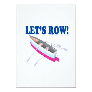 "Lets Row 5"" X 7"" Invitation Card"