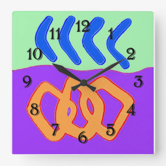 Let's Rumba Square Wall Clock