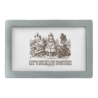 Let's Ruminate Together Alice Red White Queens Belt Buckle