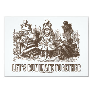Let's Ruminate Together (Alice Red White Queens) Card