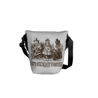 Let's Ruminate Together Alice Red White Queens Courier Bag