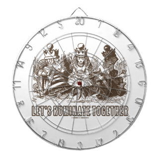Let's Ruminate Together Alice Red White Queens Dartboard