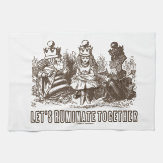 Let's Ruminate Together Alice Red White Queens Hand Towel