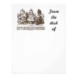 Let's Ruminate Together Alice Red White Queens Letterhead