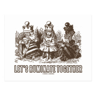 Let's Ruminate Together (Alice Red White Queens) Postcard