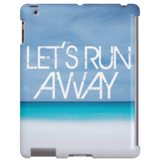 Let's Run Away quote travel saying beach ocean