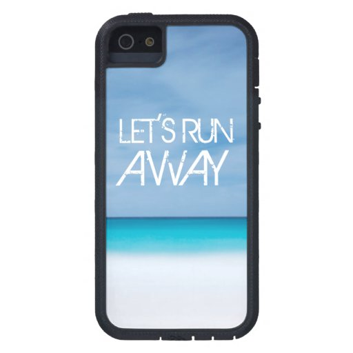 Let's Run Away quote travel saying beach ocean iPhone 5 Case