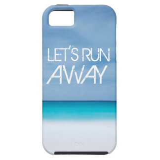 Let's Run Away quote travel saying beach ocean iPhone SE/5/5s Case