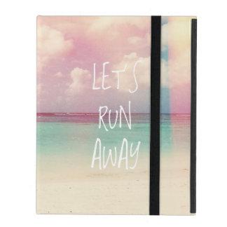 Let's Run Away Wanderlust iPad Cases