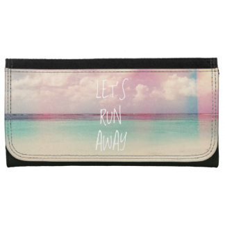 Let's Run Away Wanderlust Women's Wallet