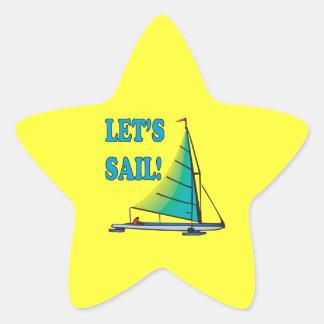 Lets Sail Star Sticker