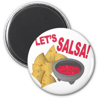 Lets Salsa 2 Inch Round Magnet