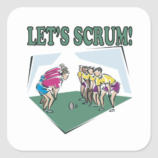 Lets Scrum Square Sticker