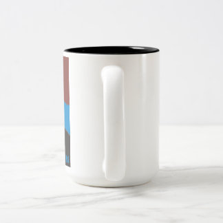 Lets Settle In - To a warm cup of coffee Two-Tone Coffee Mug