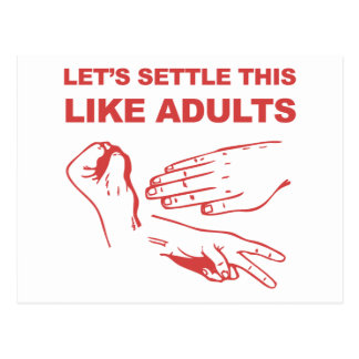 Let's Settle This Like Adults Postcard
