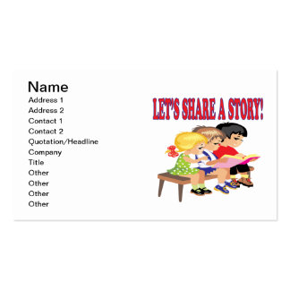 Lets Share A Story Business Card