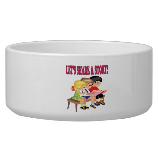 Lets Share A Story Dog Water Bowls