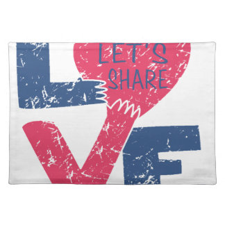 let's share love cloth placemat