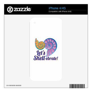 Let's Shell-Ebrate! iPhone 4S Skins