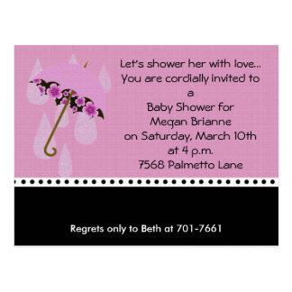 Lets Shower her Baby Shower Invitation Postcard