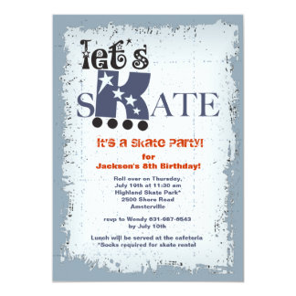 Let's Skate Party Invitation