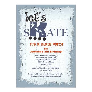 Let's Skate Party Invitation