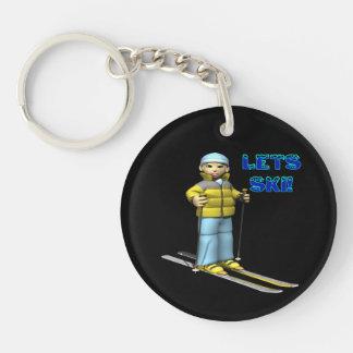 Lets Ski 2 Keychain