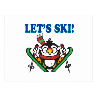 Lets Ski 3 Postcard