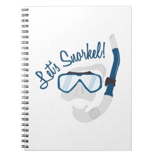 Let's Snorkel! Spiral Notebook