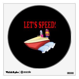 Lets Speed Wall Sticker