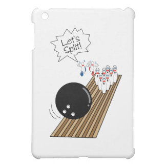 lets split scared bowling pins cartoon humor cover for the iPad mini