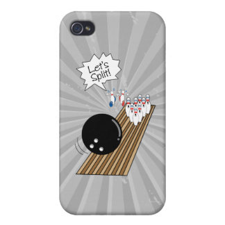 lets split scared bowling pins cartoon humor covers for iPhone 4