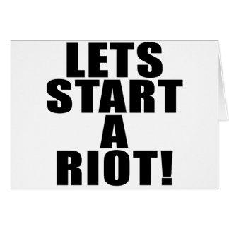 Lets Start A Riot! Card
