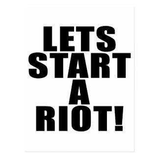 Lets Start A Riot! Postcard