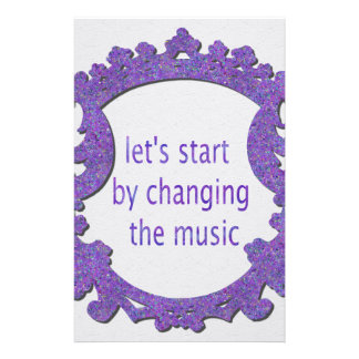 let's start by changing the music stationery