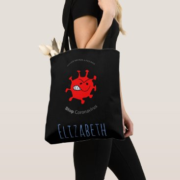 Let's stay healthy tote bag