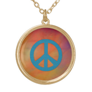 Let's Stop the War Gold Plated Necklace