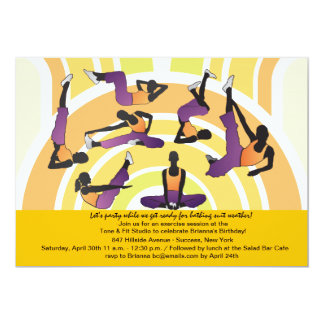 Let's Stretch Fitness Invitation