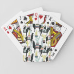 Let's Taco About Love | Llama & Donkey Pattern Playing Cards