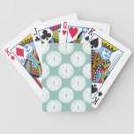 Let's Taco About Love | Teal Lime Pattern Bicycle Playing Cards