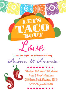 taco party invitations zazzle