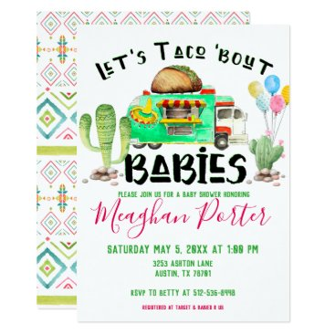 Aztec Themed Let's Taco Bout Babies Baby Shower Card