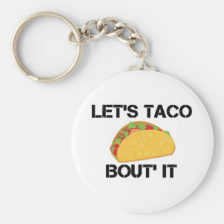 Let's Taco Bout It Basic Round Button Keychain