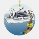 Lets Take A Cruise Funny Gifts Tees & Cards Double-Sided Ceramic Round Christmas Ornament