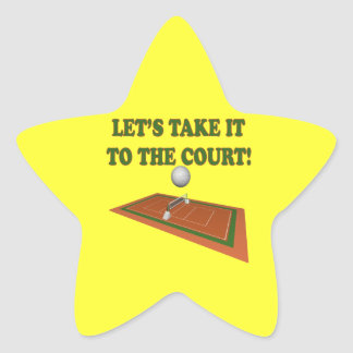 Lets Take It To The Court Star Sticker