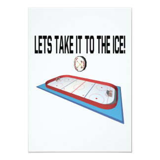 Lets Take It To The Ice Card