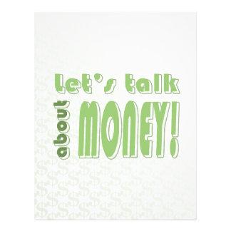 Let's talk about money flyer design