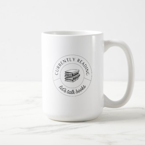 Lets Talk Books mug in Black