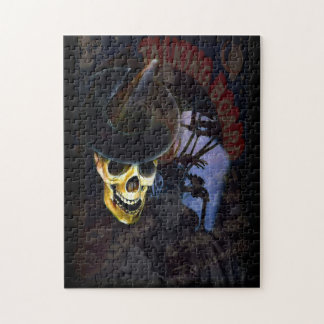 """Let's Talk"" Halloween Skeleton Art Jigsaw Puzzle"